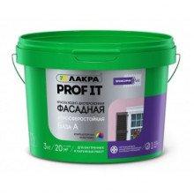 Краска в/э фасадная Profi IT База А 3 кг, Лакра