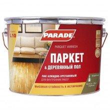 Лак алкидно-уретановый PARADE L10 Паркет & Деревянный пол Полумат., 10л