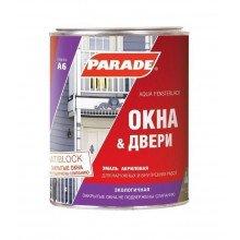 Эмаль Parade A6 Окна & Двери Полуглянцевая, 0,9л.