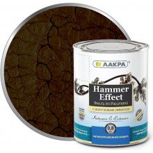 Грунт-эмаль 3в1 с молотков. эффектом коричневая. 0,8кг Лакра