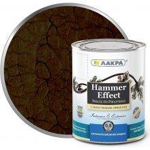 Грунт-эмаль 3в1 с молотков. эффектом коричневая. 2,5кг Лакра