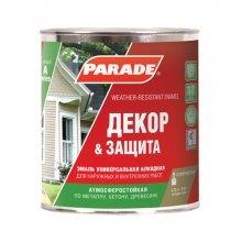 Эмаль Декор и защита PARADE A2, База А 0,75л Полумат.