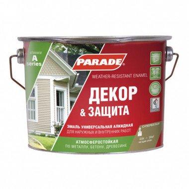 Эмаль Декор и защита PARADE A2, База А 2,5л Полумат.