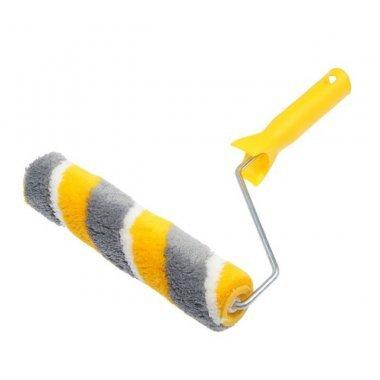 Валик 180Х40Х6мм, ворс 12,0мм, полиакрил, желто-серая нить. ЭКСПЕРТ АКОР.