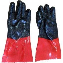 Перчатки рыбацкие красно-черные с крошкой Ю. Корея