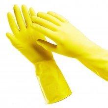 Перчатки хозяйственные, латексные, размер XL. T4P.