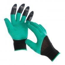 Перчатки садовые зеленые с коготочками