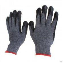 Перчатки х/б серые, с проф.резиной (черной) (китай город)