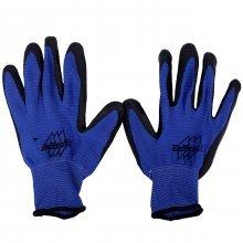 """Перчатки х/б и нейлон, рабочие, синяя обрезиненная ладонь. """"КГ""""."""