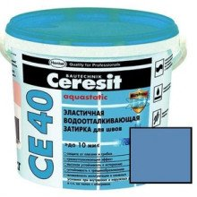 Затирка водоотт. Сeresit Aquastatic серо-голубой СЕ 40 2 кг