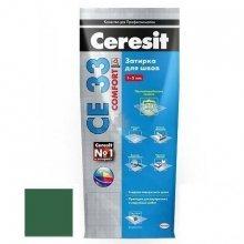Затирка для узких швов Ceresit СЕ 33 оливковый, 2 кг.