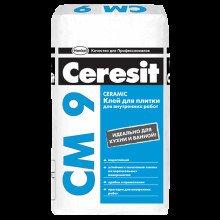 Клей для плитки CM- 9  Ceresit, 25кг. плитка, керамогранит. Внутр., работ.