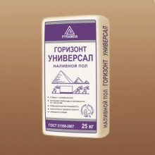 Наливной пол Пирамида  Горизонт Универсал самонивелир.смесь  (толщ. 3-80мм мм)  25 кг мешок
