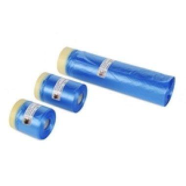 Пленка защитная с креп-лентой 450 мм Х 20 метров голубая. TRIM.