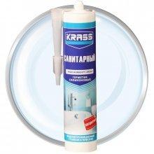 Герметик силиконовый KRASS санитарный Бесцветный 300мл