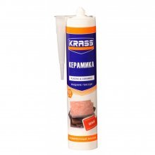 Жидкие гвозди KRASS для пластика и плитки Особопрочный монтаж (Керамика) Белый 300мл