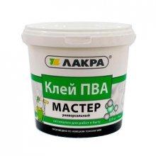 """Клей ПВА универсальная """"МАСТЕР"""" 0,9 кг """"ЛАКРА"""""""