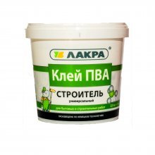 """Клей ПВА универсальная """"СТРОИТЕЛЬ"""" 0,9 кг """"ЛАКРА"""""""