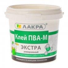 """Клей ПВА-М  универсальный """"ЭКСТРА"""" 0,9 кг """"ЛАКРА"""""""