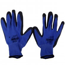 """Перчатки х/б и нейлон, рабочие, синие с проф.резиной. """"КГ""""."""