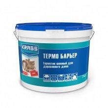 Герметик акриловый KRASS Термо Барьер Сосна для деревянного дома 7кг.