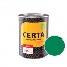 ЦЕРТА - эмаль термостойкая антикоррозионная ЗЕЛЕНЫЙ  до 500 градусов (0,8 банка)