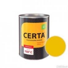 ЦЕРТА - эмаль термостойкая антикоррозионная ЖЕЛТЫЙ    до 400 градусов (0,8 банка)