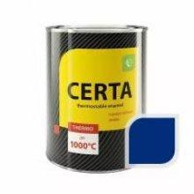 ЦЕРТА - эмаль термостойкая антикоррозионная СИНИЙ  до 400 градусов (0,8КГ)