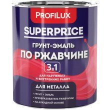 Грунт-эмаль 3в1 белая, 6.0кг. PROFILUX. SUPERPRICE.