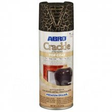 Краска-спрей декоративная Премиум КРАКЛЕ (черная) ABRO 227 гр.