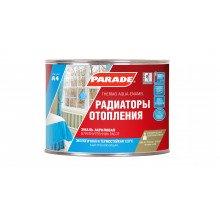 Эмаль для радиаторов акриловая PARADE A4 п/матовая. белая 0,45литр.