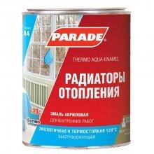 Эмаль для радиаторов акриловая PARADE A4 п/матовая. белая 0,9литр.