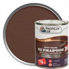 Грунт-эмаль 3в1 коричневая, 0.9кг. PROFILUX.