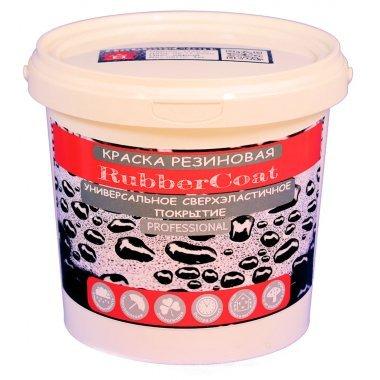 Краска резиновая RubberCoat Черная, 1кг, Дом ремонта