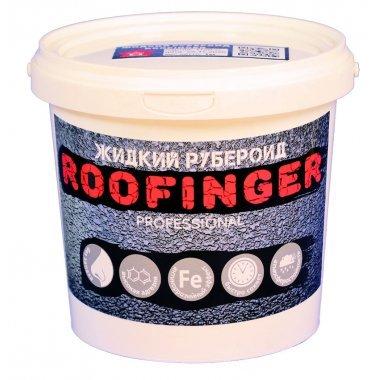 Жидкий рубероид Roofinger, чёрный, 1кг, Дом ремонта