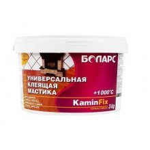 Клей KAMINFIX термостойкий +1000С 3кг.БОЛАРС