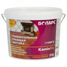 Клей KAMINFIX термостойкий +1000С 9кг.БОЛАРС