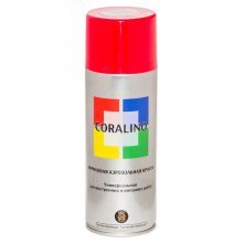 Краска-спрей CORALINO Красный светофорный. RAL 3020. 520мл/200гр.