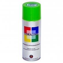 Краска-спрей CORALINO Желто-зеленый. RAL 6018. 520мл/200гр.