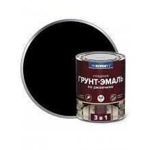 Грунт-эмаль 3в1. PROREMONTT. 0,8кг. Черная.  По ржавчине, гладкая.